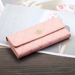 New Faux Leather Pink Cushion Wallet